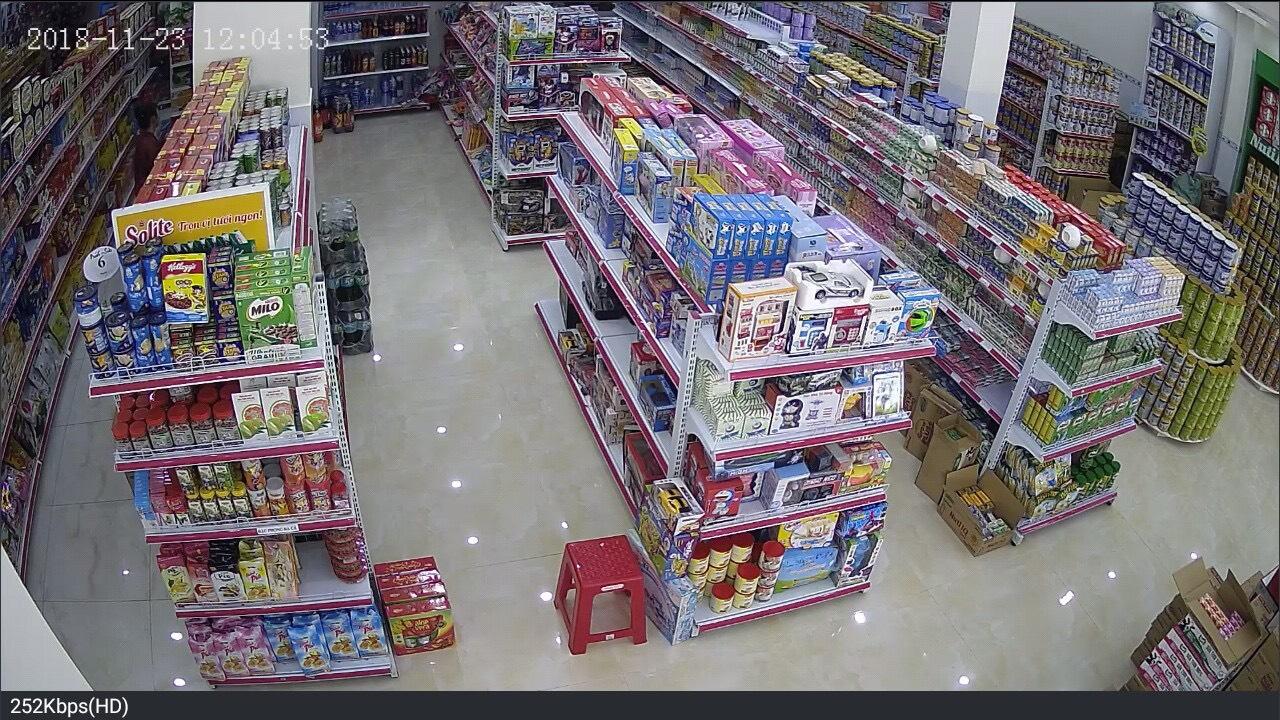 Công trình camera siêu thị mini Hiếu Linh